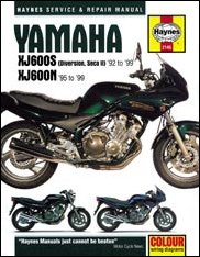 Haynes servicerepair Manual XJ600SN 92 99