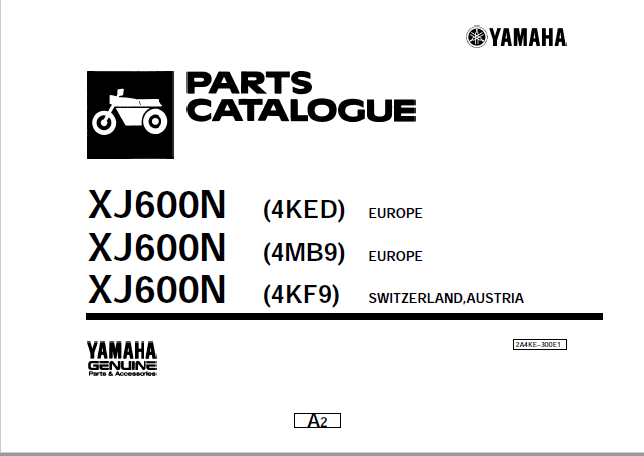 Parts Catalogue XJ600n