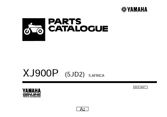 Parts Catalogue XJ900psudafrica